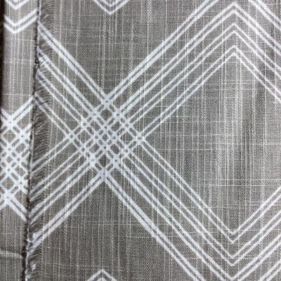 Lined Geometric Gray / White | Home Decor Fabric | Premier Prints | 54 Wide | By the Yard