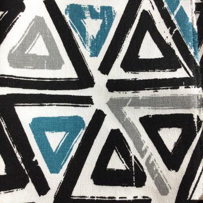 Modern Geometric Triangles Blue / Black / White   Home Decor Fabric   Premier Prints   54 Wide   By the Yard