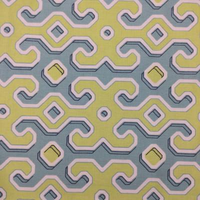 geometric lime green blue