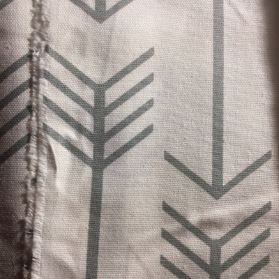 Modern Arrows Gray on White   Home Decor Fabric   Premier Prints   54 Wide   By the Yard