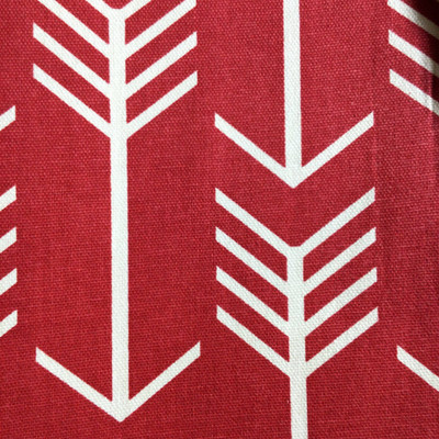 Modern Arrows White on Red   Home Decor Fabric   Premier Prints   54 Wide   By the Yard