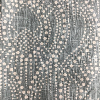 Boho Dotted Ogee Muted Blue / White   Home Decor Fabric   Premier Prints   54 Wide   By the Yard