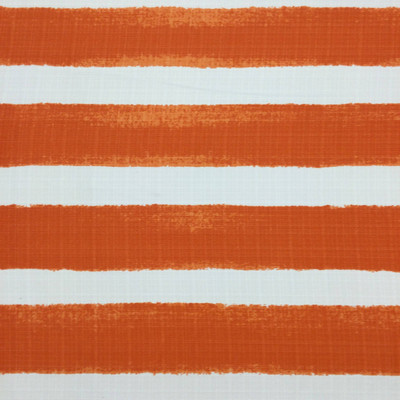 Deckled Vertical Stripes Orange / White   Home Decor Fabric   Premier Prints   54 Wide   By the Yard