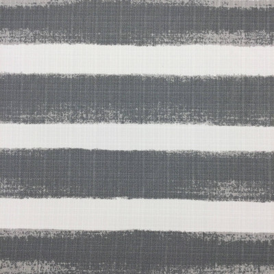 Deckled Edge Stripes Gray / White Canvas | Home Decor Fabric | Premier Prints | 54 Wide | By the Yard