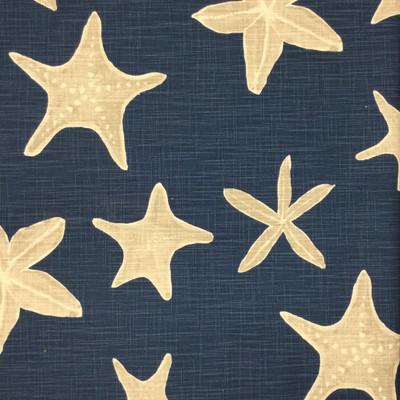 outdoor fabric navy starfish