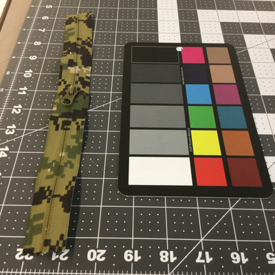"10.5"" Coil Zipper | Green Tan Digital Camouflage | Military Repair | Bags / Pockets."