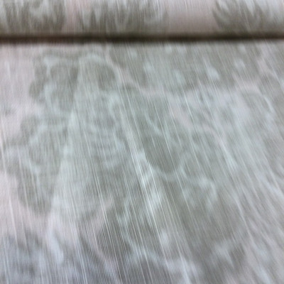 """5.8 Yard Piece of Home Decor Fabric   Shabby Damask Off White / Gray   Upholstery / Drapery   54"""" Wide"""