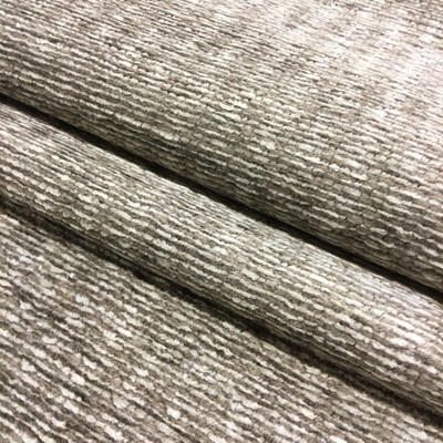 """2.8 Yard Piece of Upholstery Fabric   Taupe / Off White Chenille   54"""" Wide"""