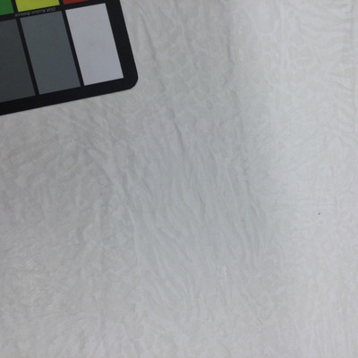 Semi-Translucent White Animal Print Stretch Knit