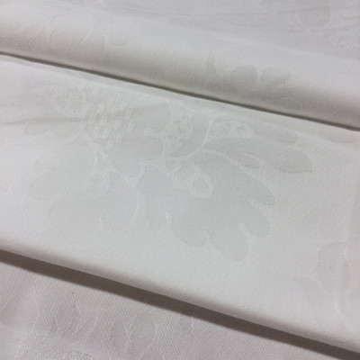 """Off White Embossed Floral   Drapery / Upholstery Fabric   54"""" Wide   By the Yard"""