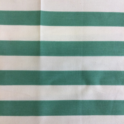 """Green and White Stripes   Home Decor Fabric   Upholstery / Drapery   54"""" Wide   By the Yard"""