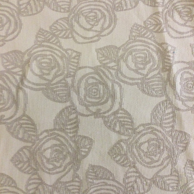 """Solid Beige Embossed Roses 