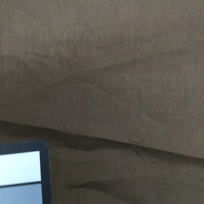 Chocolate Brown Poly Cotton Broadcloth Fabric   Great for Drapery   Linings   Crafts   60 inches wide   By the Yard