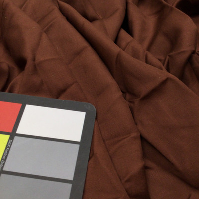 Solid Coffee Brown Matte Dense 100% Polyester