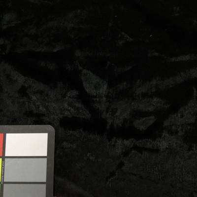 Shiny Black Faux Fur Low Pile
