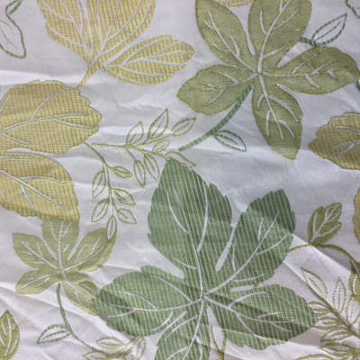 """Foliage Green / Yellow   Upholstery Fabric   54"""" Wide   By the Yard"""