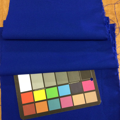 Royal Blue Polyester Gabradine Fabric | Lightweight Woven Suiting | By The Yard | 60 inch wide