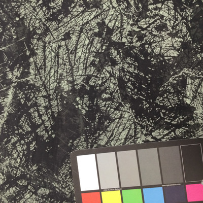 """Black and moss green textured foliage poly chiffon print 