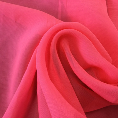 """Neon Pink Poly Chiffon Solid 