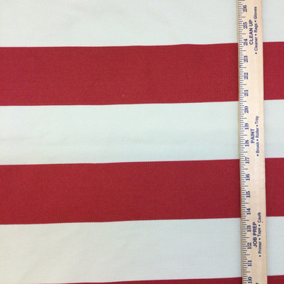 """Red and Beige Wide Stripes   Cabana Stripe in Toma by BELLA-DURA   Latex Backed   Indoor / Outdoor Fabric   WATER RESISTANT   54"""" Wide   BTY"""