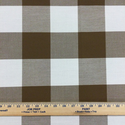 """Brown and Off White Check Plaid  