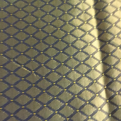 0.875 Yard Piece of Gold and Black Diamonds | Slipcover / Upholstery Fabric | 56 Wide | By the Yard