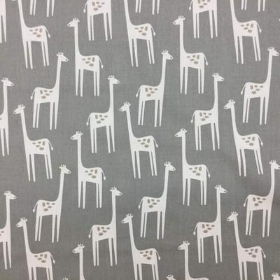 3 Yard Piece of Giraffe Themed Kids  Fabric | Upholstery / Drapery Fabric / Gray Colors