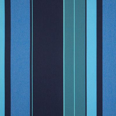 1.8 Yard Piece of Sunbrella Sporting Stripe ii Baltic | 64146-0002 | Furniture Wght Fabric |54|
