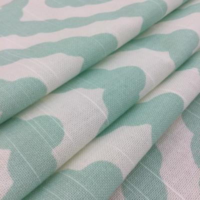 """Wavy Chevron in Aqua Blue and White 