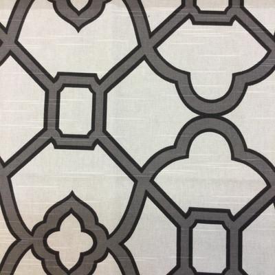 "Modern Lattice in Gray / Black / Beige | Home Decor Fabric | 54"" Wide | By the Yard"