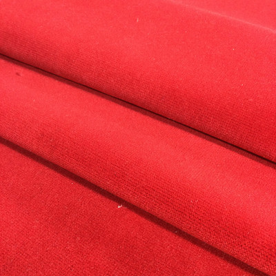 """Bold Chili Red Velvet   Upholstery Fabric   54"""" Wide   By the Yard"""