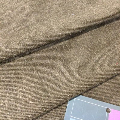 """Heathered Brown Twill Microfiber   Upholstery Fabric   54"""" Wide   By the Yard"""