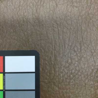 1 Yard Piece of Dark Brown Faux Leather Vinyl   Indoor Upholstery   54 Wide   By the Yard