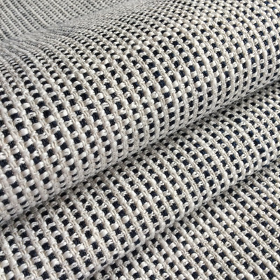 """Navy Blue / Off White Basketweave   Heavy Upholstery Fabric   54"""" Wide   By the Yard"""