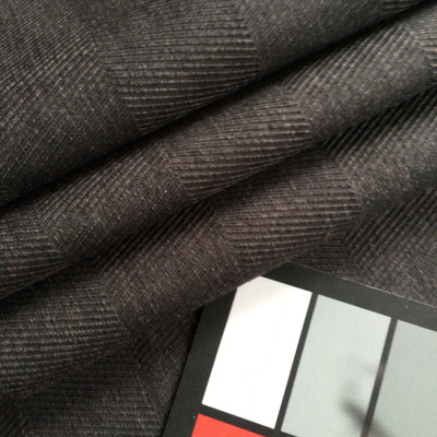 "Charcoal Gray Herringbone Twill | Gunner in Graphite by Richloom | Drapery / Slipcover Fabric | 54"" Wide | By the Yard"