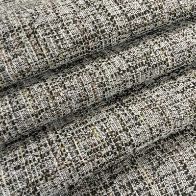 """Textured Slub Weave Black / Gray / Green 