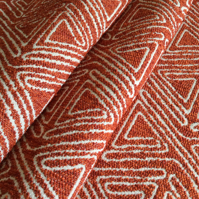 """Triangle Maze in Paprika Orange / Off White 