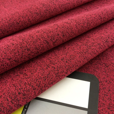 """Mottled Red with Black Microfiber   Medium Weight Upholstery Fabric    54"""" Wide   By the Yard   Durable"""