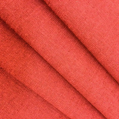 """Slub Flat Weave in Cherry Red 