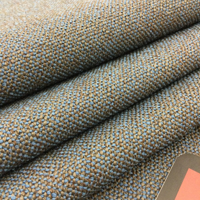 """Blue and Taupe Basketweave   Heavyweight Upholstery / Slipcover Fabric   54"""" Wide   By the Yard"""