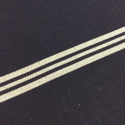 """Navy Blue and White Striped Outdoor Fabric 