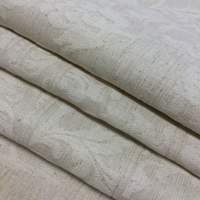 """Delano in Greige   Jacquard Upholstery Fabric   Damask Patches in Beige   Heavyweight   54"""" Wide   By the Yard"""
