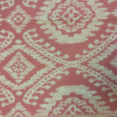 """Divine in Crimson by P. Kaufmann   Jacquard Upholstery Fabric   Southwestern Ikat in Red / Beige   54"""" Wide   By the Yard"""