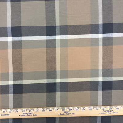 """Kingston in color Truffle   Plaid   Tan / Gray   Medium Weight Upholstery / Drapery Fabric   54"""" Wide   By the Yard"""