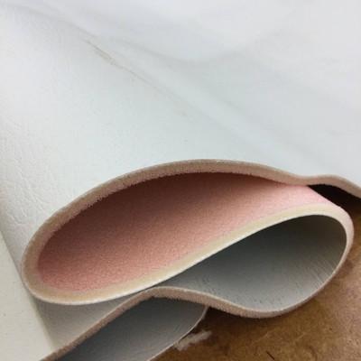 "Greige Faux Leather Vinyl Headliner - Foam-Backed | 3/16"" Thick | 54"" Wide | Bag Stabilizer / Sew Foam | By the Yard"