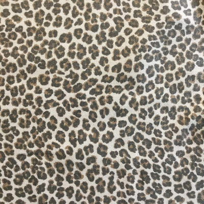 3.5 Yard Piece of Leopard Print in Brown / Tan | Premier Prints | Home Decor Fabric | 54 Wide