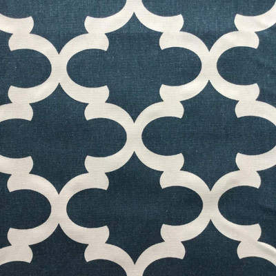 6 Yard Piece of Moroccan Tiles in Navy Blue | Home Decor Fabric | Premier Prints | 54 W | BTY