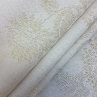 """Chrysanthemum Floral Brocade in Ivory Off-White 