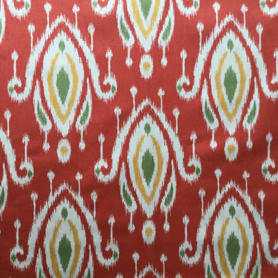 5.325 Yard Piece of Faux Ikat in Cayanne Red Upholstery / Drapery Fabric | 54 Wide | By the Yard