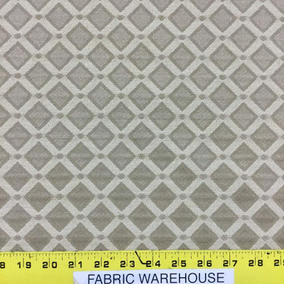 """6 Yard Piece of Formal Diamonds in Golden Tan Upholstery Fabric   54""""   BTY   Durable"""